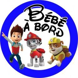 stickers pat patrouille bébé à bord