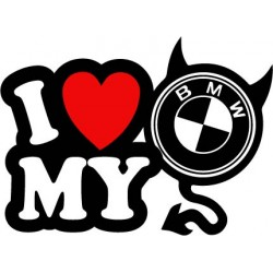 stickers i love my bmw