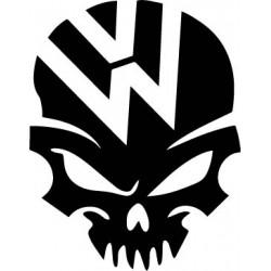 stickers vw skull