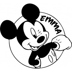 mickey texte personnalisable