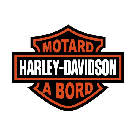 motard à bord harley davidson