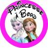 princesse à bord reine des neiges rose